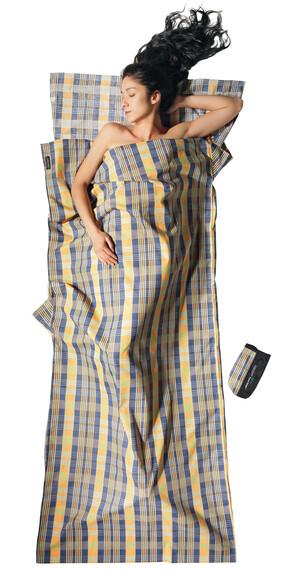 Cocoon - Drap sac de couchage en coton - jaune/bleu